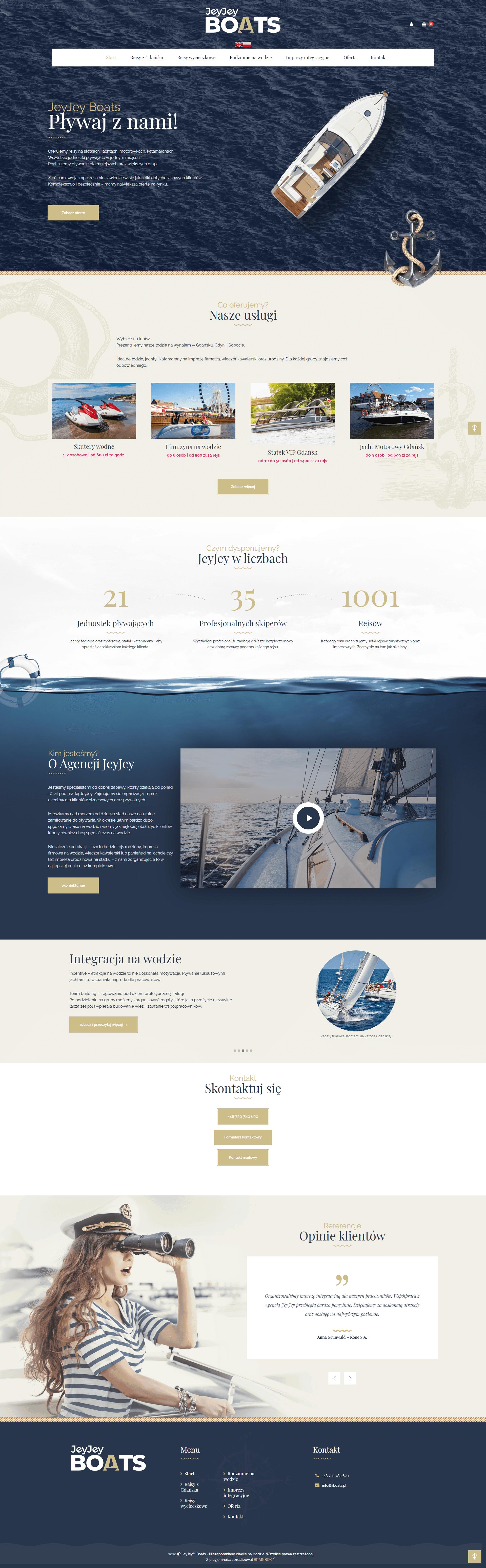 JeyJey Boats strona www